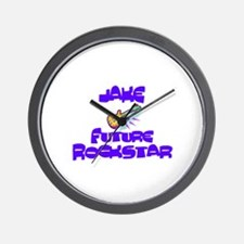 Jake - Future Rock Star Wall Clock