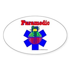 Paramedic Christmas Gifts Oval Decal