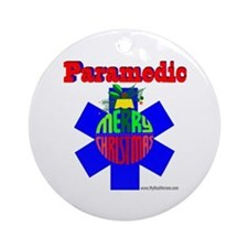 Paramedic Christmas Gifts Ornament (Round)