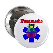 """Paramedic Christmas Gifts 2.25"""" Button"""