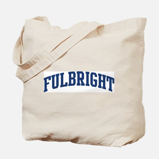 FULBRIGHT design (blue) Tote Bag