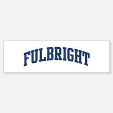 FULBRIGHT design (blue) Bumper Bumper Bumper Sticker