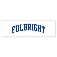 FULBRIGHT design (blue) Bumper Bumper Sticker