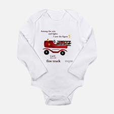 fire truck with words Body Suit
