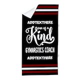 Gymnastics best coach Beach Towels