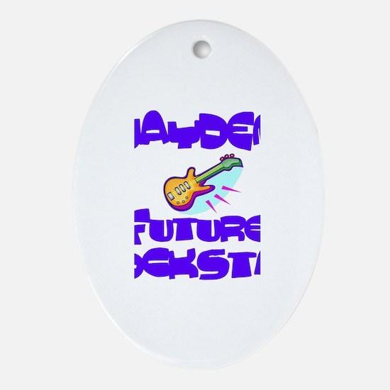 Jayden - Future Rock Star Oval Ornament