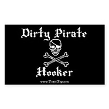 Dirty Pirate Hooker (White) Rectangle Stickers