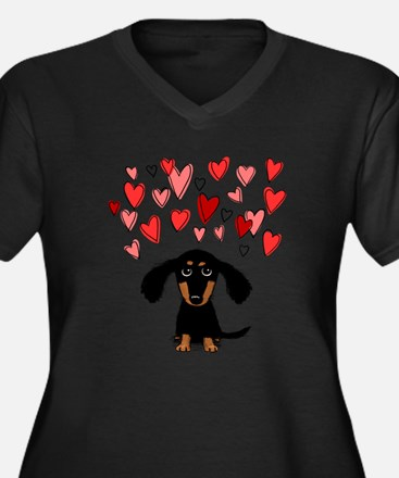 Cute Dachshund Plus Size T-Shirt