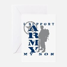 I Support Son 2 - ARMY Greeting Cards (Pk of 10)
