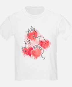 Love Cats Watercolor T-Shirt