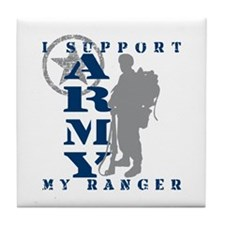 I Support My Rngr 2 - ARMY Tile Coaster