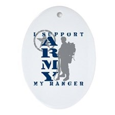 I Support My Rngr 2 - ARMY Oval Ornament