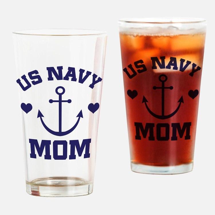 US Navy Mom gift Drinking Glass