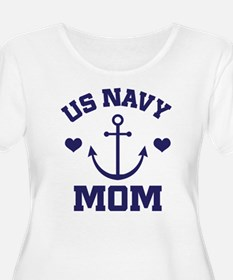 US Navy Mom gift Plus Size T-Shirt