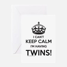 Twin Pregnancy Announcement Card Greeting Cards