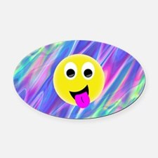 Cool Funny smiley faces Oval Car Magnet