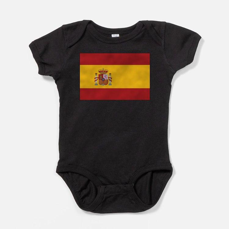 Cute Spanish flag Baby Bodysuit