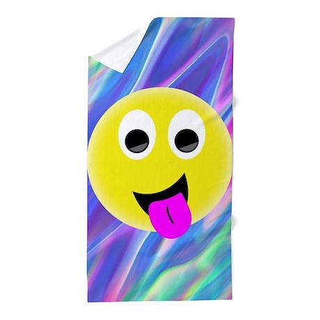 Bathroom Emoji Hologram Beach Towel E