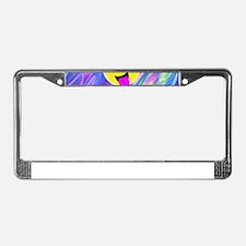 emoji hologram License Plate Frame