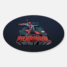 Deadpool Pose Sticker (Oval)