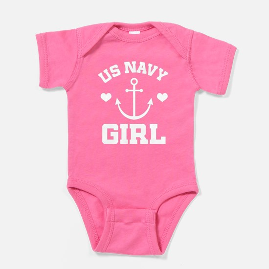US Navy Girl gift idea Baby Bodysuit