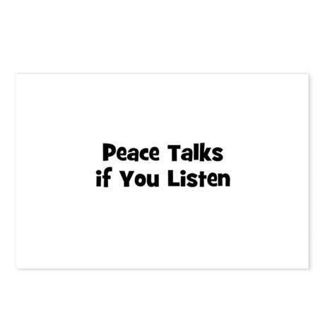 Peace Talks if You Listen Postcards (Package of 8)