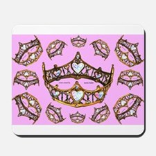 Queen of Hearts gold crowns tiaras scattered patte