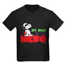 Peanuts: Dad Hero Kids Dark T-Shirt