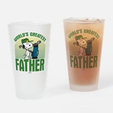 Peanuts: Golf Father Drinking Glass