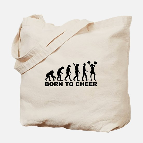Evolution cheerleading born to cheer Tote Bag