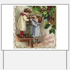 Vintage Christmas Card Yard Sign