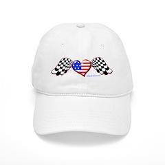 RaceFashion.com US Heart Baseball Cap