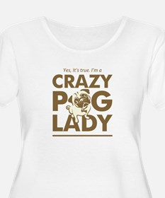 Crazy Pug Lady T Shirt and Items - Funny T-Shirt