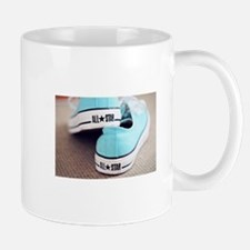 teal blue converse. Mugs