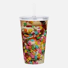 sundae with gummi worm Acrylic Double-wall Tumbler
