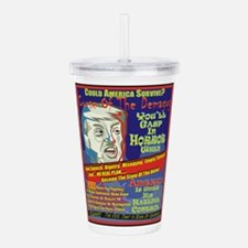 Trump Terror Acrylic Double-wall Tumbler