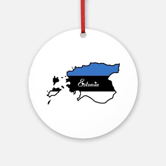 Cool Estonia Ornament (Round)