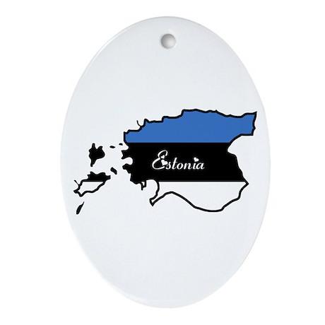 Cool Estonia Oval Ornament