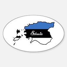 Cool Estonia Oval Decal