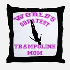 Unique Trampoline Throw Pillow