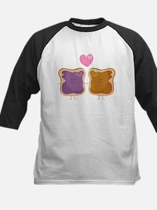 Peanut Butter Loves Jelly Kids Baseball Jersey