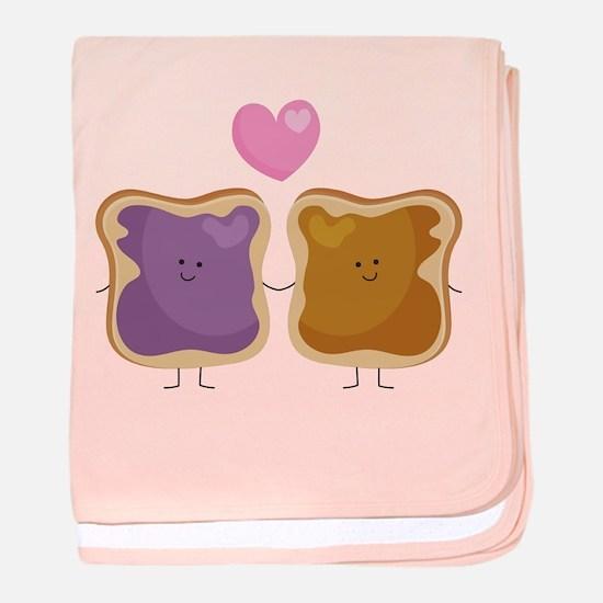Peanut Butter Loves Jelly baby blanket