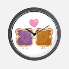 Peanut Butter Loves Jelly Wall Clock