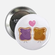 "Peanut Butter Loves Jelly 2.25"" Button"