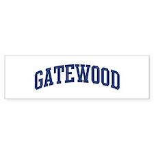 GATEWOOD design (blue) Bumper Bumper Sticker