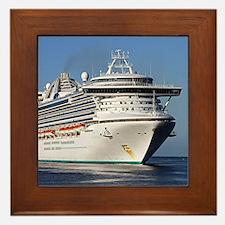 Golden Princess cruise ship Framed Tile