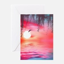 Beautiful Sunset Greeting Cards