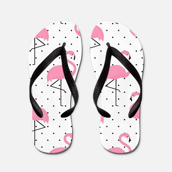 Cute Flamingo Flip Flops