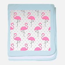 Cute Flamingo baby blanket