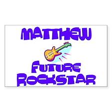Matthew - Future Rock Star Rectangle Decal